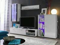 BRAND NEW Living Room Furniture Set High Gloss TV Unit Cabinet Cupboard with LED lights