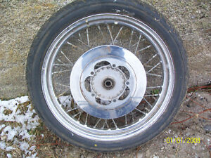 GSXR and Harley wheel