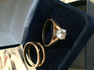 Engagement ring and band for sale