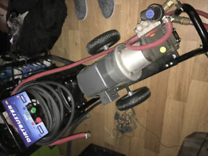 Almost new hot water pressure washer $2500