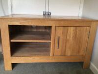 Solid Oak TV cabinet/cupboard