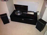 Bang and olufsen record player with speakers