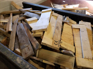 Free wood scrap. 4 yards cut up skids available