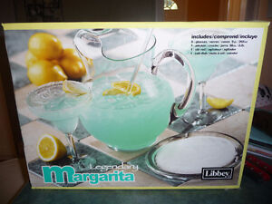 Libbey Margarita Pitcher & Glass Set - never used