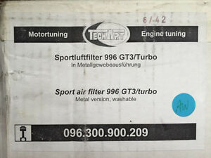 TECHART SPORT AIR FILTER 996 GT3 / TURBO West Island Greater Montréal image 1