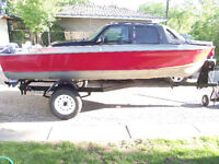 SELLING: My 1992 14` boat,9.9 motor and trailer-$2500