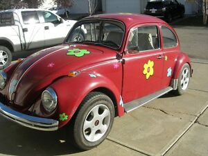 Classic 1968 VW Beetle - 60,000 miles - refurbished interior