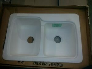TRANSOLID granit double drop in sink
