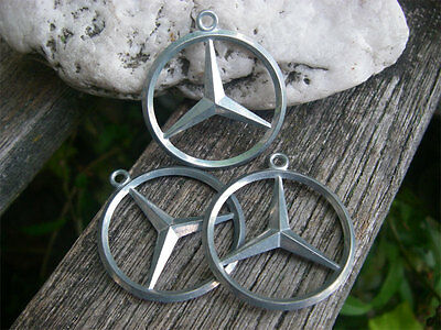 vintage MERCEDES BENZ - key-fob keyring star pendant - LOT of THREE!!