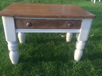 Antique rustic solid pine coffee table