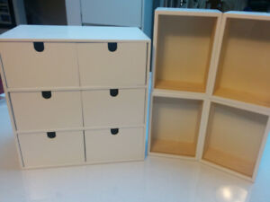 set of display storage boxes