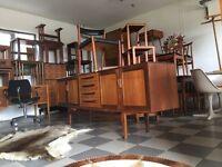 Vintage retro mid century furniture pop up shop