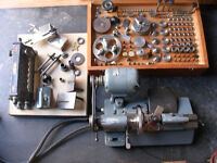 8mm BOLEY F1 WATCHMAKER CLOCKMAKER LATHE & CASE OF ACCESSORIES