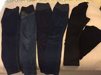 6 Pairs of Maternity Jean/Legging mostly JoJo Size 10/12