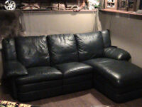 High end leather couch