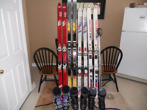 CHEAP CHEAP DOWNHILL SKIS AND BOOTS!!!!!