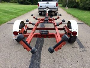 HEAVY DUTY CALKINS BOAT TRAILER WITH SERIAL NUMBER