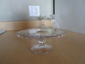 Vintage Glassware with Silver Roses Etching ( like brand new )