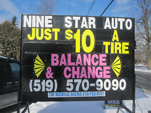 GET YOUR TIRES CHANGED ONLY $10(CHANGED&BALANCED)