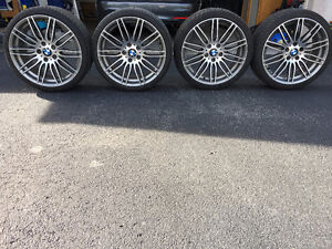 Set of 4 used BMW 19 Inch Performance Rim's & tires for sale