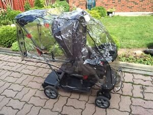 Baby Trend sit & stand double stroller + rain cover London Ontario image 1