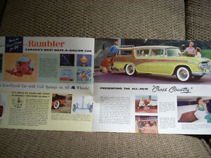 1956 nash rambler sales brochure Peterborough Peterborough Area image 5