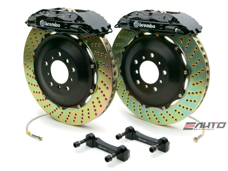 Brembo Front Gt Brake Bbk 4pot Black 355x32 Drill A4 02-08 S4 A6 2.7t C5 98-04
