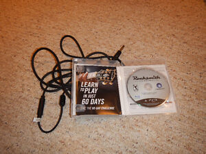 PS3 Rocksmith with cable