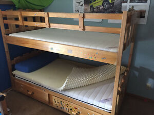Solid maple bunk beds