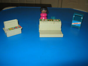 Vintage Fisher Price Little People Sesame Street furniture
