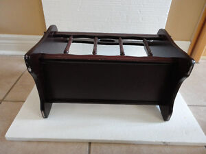 Decorative solid wooden magazine stand holder London Ontario image 5