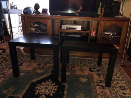 2 X Ikea Black Side Tables