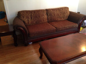Living Room Set (Couch, loveseat, coffee table, two end tables)