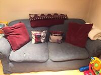 1x sofa and 1x sofa bed £100 ONO