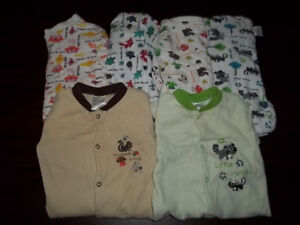 3 MONTH BABY CLOTHES, X6 100% COTTON PAJAMA good for TWINS ! Peterborough Peterborough Area image 1