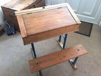 Old style school desk