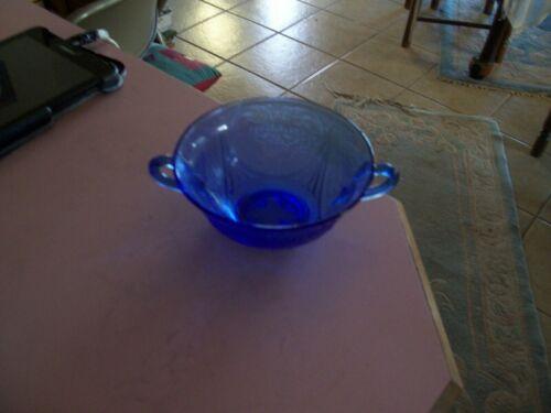 """Royal Lace cobalt blue 4 3/4"""" cream soup bowl"""