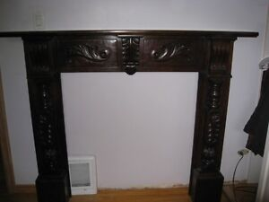 Solid-wood Fireplace Mantel