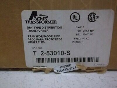 Acme T2-53010-s Dry Type Distribution Transformer Factory Sealed
