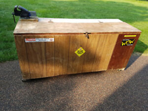 Work Bench Storage Box  with HD large Vice