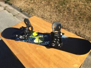 Morrow 128cm board and bindings - Firefly Boots - Next to New
