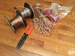 200 Feet+ 18 gauge Speaker Wire and Wire Stripping Tool