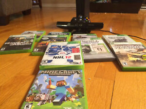 XBox 360 with Kinect and lots of games $200 GREAT DEAL!
