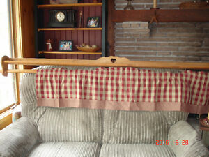 Wooden Shelf With Rod