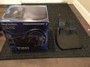 Thrustmaster T80 racing wheel and pedals for PS4/PS3