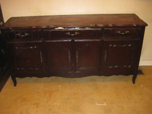 Antique China Hutch Sideboard