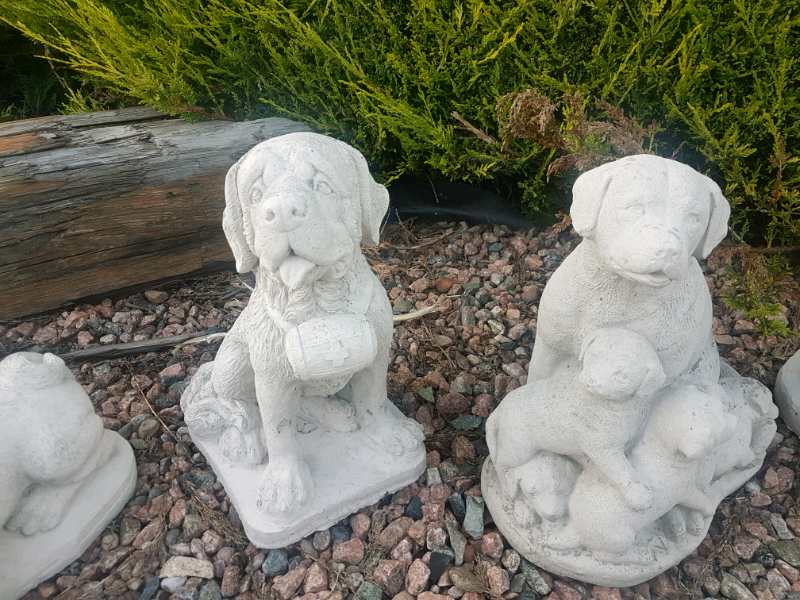 Concrete St Bernard Dog Garden Ornament In Saintfield County Down Gumtree