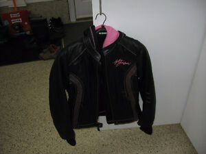 Ladies Leather Harley Davidson Pink Label Jacket &Chaps