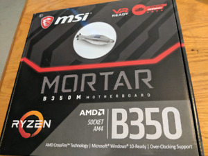 MSI B350M Mortar Motherboard Socket AM4