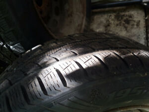 195/65 R15 winter tires on rims used half a season